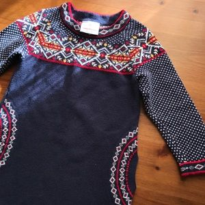HANNA ANDERSSON 90 Toddler Holiday Sweater Dress